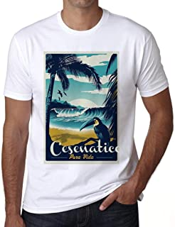 Ultrabasic® Men's Graphic T-Shirt Pura Vida Beach Name Vintage Cesenatico