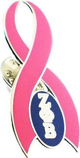 Cultural Exchange Zeta Phi Beta Pink Ribbon Lapel Pin [Silver - 1.5