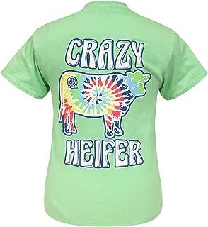 Tie Dye Crazy Heifer Mint Short Sleeve T-Shirt