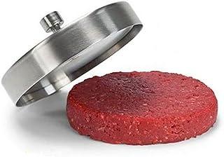 CAMPAM プッシュ式 ステンレス ミートプレス ハンバーガープレス バーガー パテ メーカー 肉プレス バーベキューツール キャンプ ホームパーティ アウトドア バーベキュー 手軽に手作りハンバーガーを