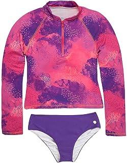 OFFCORSS Big Girl Long Sleeve Rashguard UV Protection   Traje de Baño para Niñas