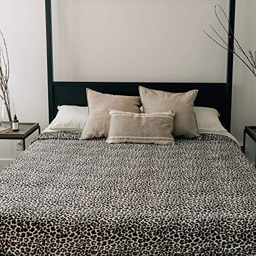 GRACED SOFT LUXURIES Bed Blanket Fleece Minky Microfiber Soft Velvet Comforter (Leopard, King Size 108' x 90')
