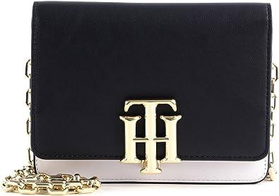 Tommy Hilfiger TH Lock Mini Crossover Bag Desert Sky/White Mix