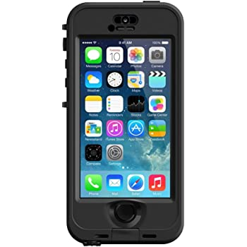 LifeProof NÜÜD SERIES Waterproof Case for iPhone 5/5s/SE - Retail Packaging - BLACK (BLACK/SMOKE)