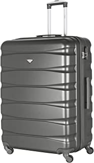 Flight Knight Lightweight 4 Wheel ABS Hard Case Suitcases Cabin & Hold Luggage Options - Large Charcoal FK01_CHAR_L