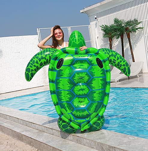 CYLYFFSFC Piscina Inflable Piscina de Juguete Playa de Verano Junto al mar Asiento de Tortuga Grande Verde Agua Inflable para Adultos Fila Flotante sofá Cama Flotante Gran Anillo de natación Juguete
