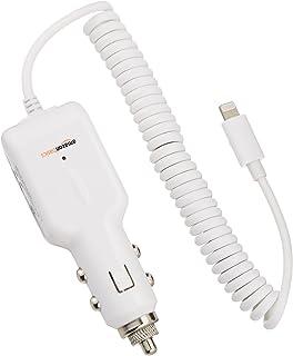 AmazonBasics Lightning Car Charger for Apple (White)