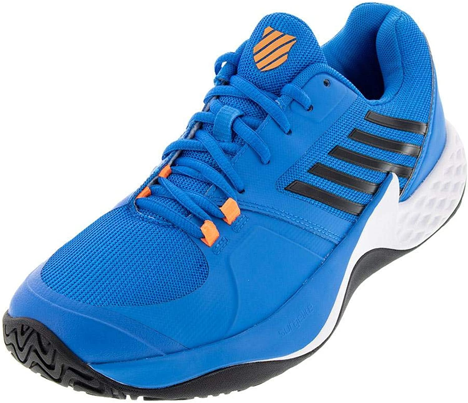 K-Swiss Aero Court Brilliant bluee Neon orange 8.5 UK, Men, bluee Black White, 42.5 EU