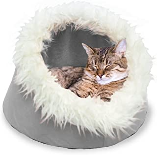 Furhaven Pet Cat Bed | Cat Cave Cuddler Hideout Den for Cats & Small Dogs