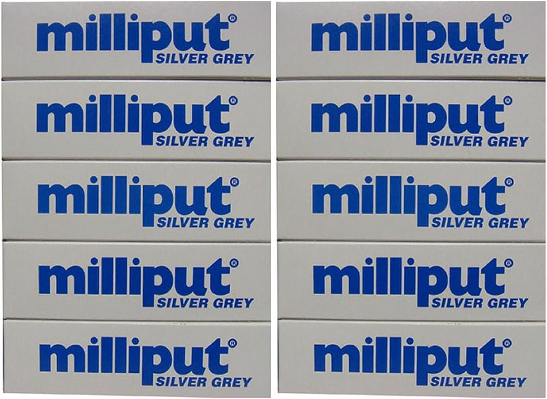 Milliput Epoxy Putty  Silver Grey 113.4g Kit  10pk