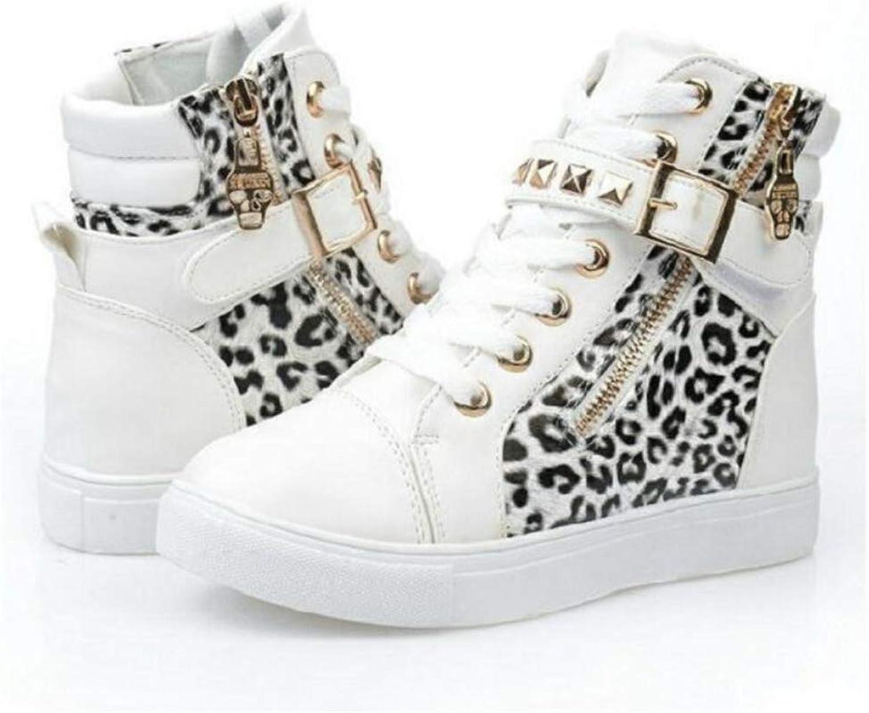 Excellent.c Women's Canvas shoes Increased Women's shoes high Side Zipper Velcro shoes