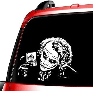 LYJ Auto Aufkleber, Joker, Außenzubehör für Autos und Motorräder, Vinyl Aufkleber, weiß, 20 x 20 cm