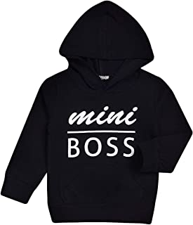 Toddler Boy Girls Hoodies Outfits Mini Boss Sweatshirt Casual Tops Pocket Sweater Outdoor Cotton Clothes