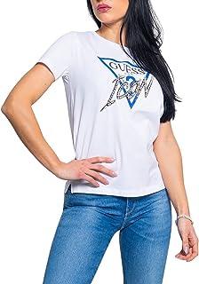 GUESS Women's ICON TRIANGLE LOGO T-Shirt