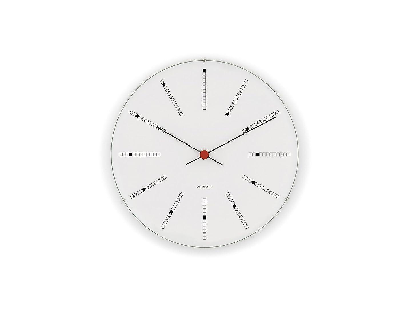 虹超高層ビルレンダー【正規輸入品】Arne Jacobsen Bankers Wall Clock 21cm 43630