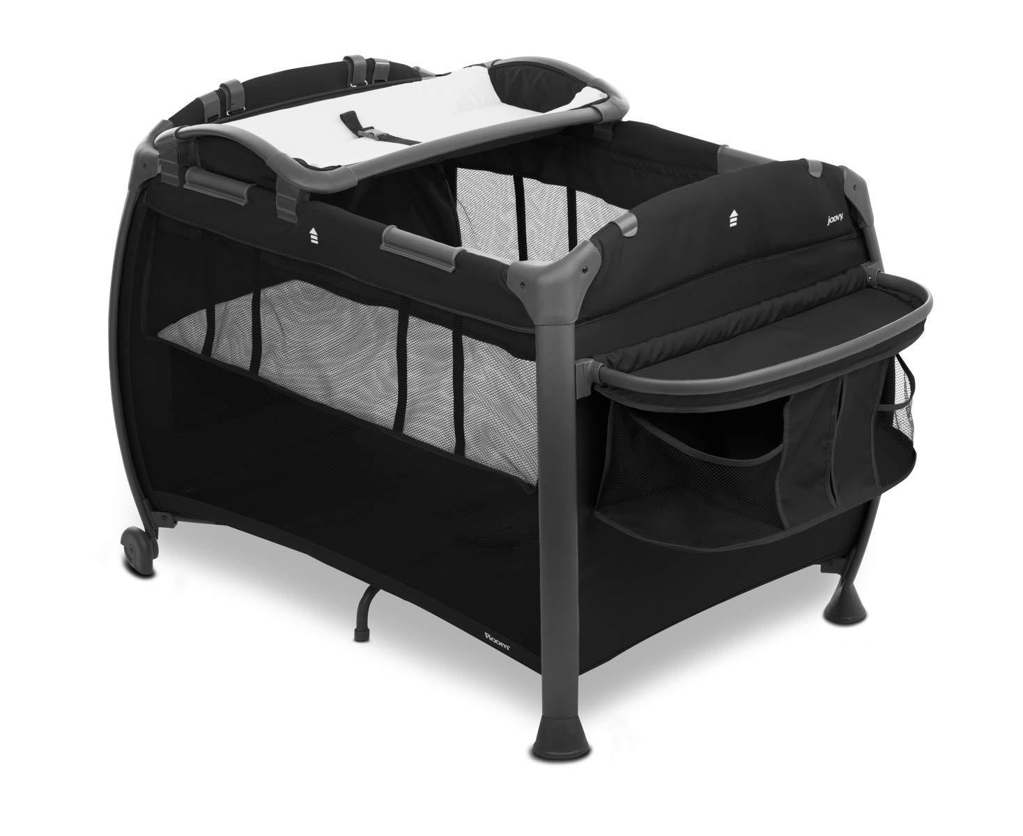 Joovy Room-Playard, Nursery Center, Bassinet, Changing-Table, Black