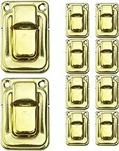 LINVINC 10-delige Doosbeugel Klinkgesp - Retro-stijl Antiek bronzen kistvergrendelingsgesp Haspvergrendelingen Gesp voor H...
