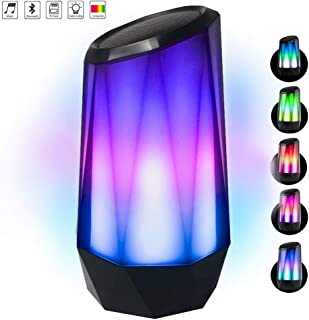 Portable Wireless Bluetooth Speakers LED Lights Speaker Bluetooth 4.2 with 6 LED Lights Modes TF Card, for Smart Phone, Computer and Other All Bluetooth Devices