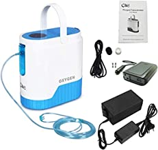 COXTOD 1-5L/min Portable Adjustable Oxygen Concentrator for Travel use,with 10000mAh Lithium Battery for Home and Travel Use, AC 110V Humidifiers