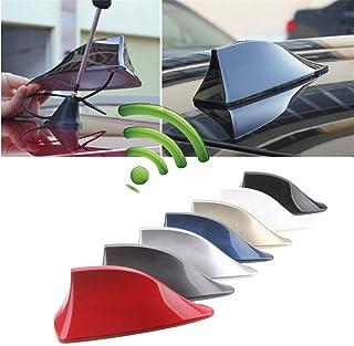 LayTmore Shark Fin Roof Antenna Aerial FM/AM Radio Signal Decoration Car Trim Universal (Black)