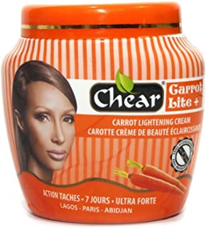 Carrot Lite+ - Tarro de crema corporal para blanqueamiento de la piel, 300 ml, con extractos de zanahoria