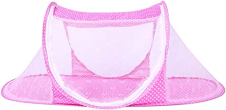 Ausale Thin Summer Mosquito Net for Children,Portable Folding Baby Travel Bed Crib Baby Cots Newborn Foldable Crib (Pink)