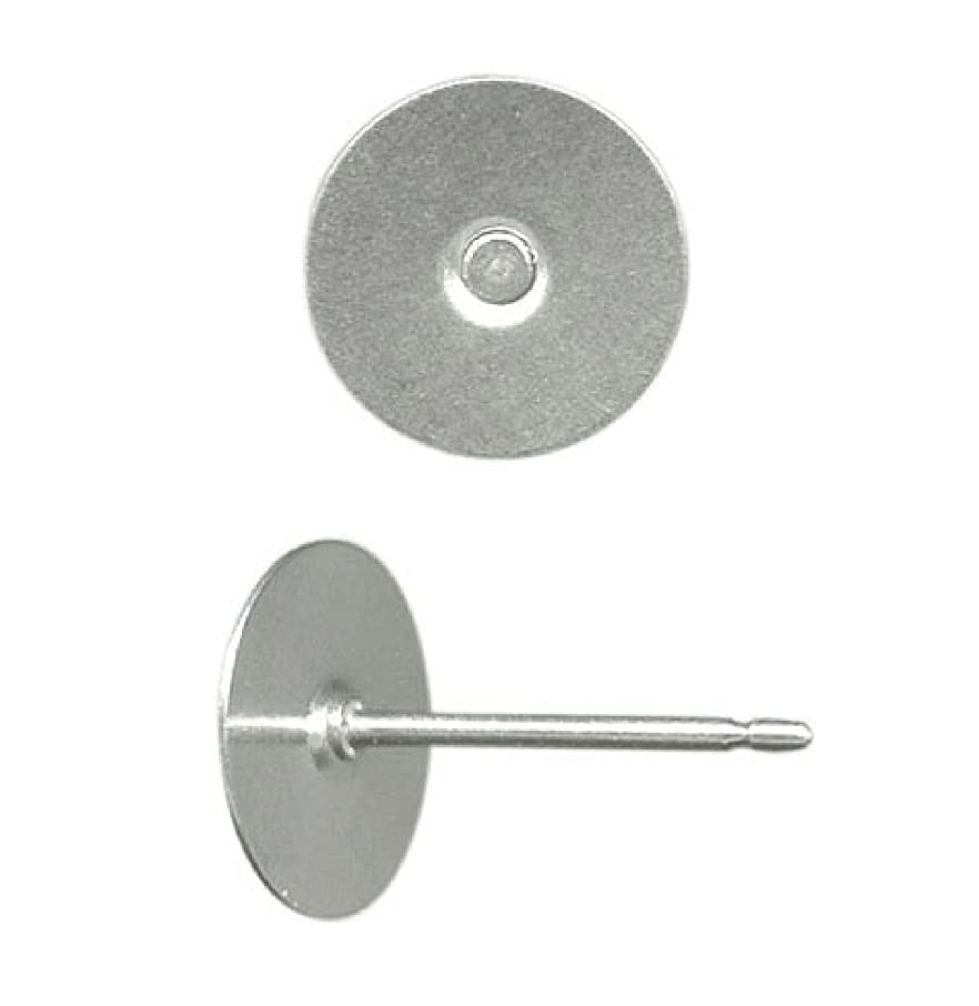 Titanium earring supplies,80 pcs.40- 8mm (large)pad posts and 40 pcs. stainless backs,hypoallergenic jewelry