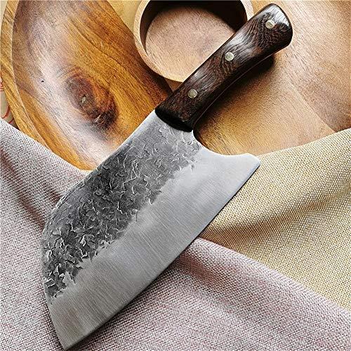 Martillo de la cocina Cortantes artesanalmente forjada de acero inoxidable rebanar cocinar Cuchillo de los cocineros del hogar Chopper Butcher Herramientas