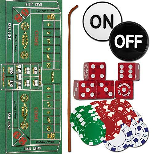 Trademark 10-3020-set Craps Set - All The Pieces to Play Now Craps Set, Multi