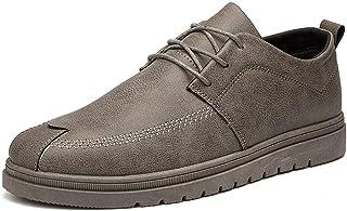 DADIJIER Oxford de Negocios para Hombres Zapatos Formales con Cordones de Tela Transpirable Informal de Verano Suelas Suav...