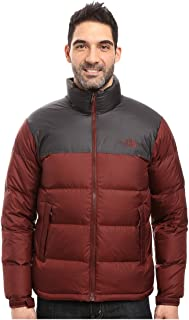 Men's Nuptse Jacket (X-Large, Sequoia Red/Asphalt Grey)