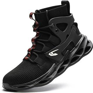 JUDBF męskie obuwie ochronne - lekkie buty robocze - wysokie damskie buty ochronne S3 - oddychające, ze stalowymi nasadkami