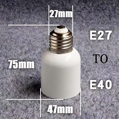 RICISUNG Sockeladapter E27 auf E40 für LED-Leuchtmittel, Adapter, 1 Stück