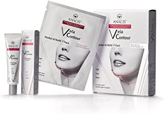Face V-line Chin up Lift, Neck Line Slimmer Cream and 5 Masks - for Sagging Double Chin