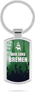 Schlüsselanhänger mit Gravur Wunschtext Name Bremen