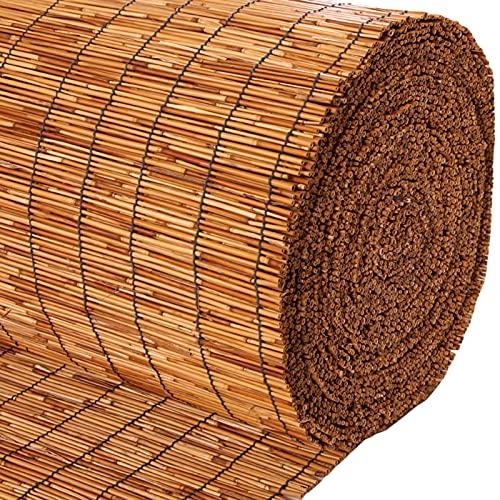 ZXXL Persiana Enrollables Bambú Persiana Enrollable con Filtro de Luz, Cortina de Láminas de Protección UV de Estilo Japonés para Exterior/Jardín/Terraza/Porche/Pérgola, Fácil de Instalar