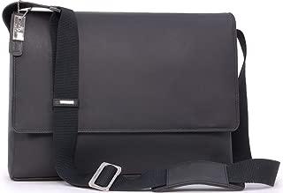 "Visconti East/West A4 Messenger / 15"" Laptop Bag - Hunter Leather - Hardwearing/Shoulder/Cross Body/Business/Office/Work Bag/Leisure - 18516 - Texas (L) - Oil Black"