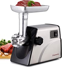 Sunmile SM-G33 Electric Meat Grinder - 1HP 800W Max Power - ETL Stainless Steel Meat Grinder Mincer Sausage Stuffer - Stainless Steel Blade and Plates, 3 Sausage Makers
