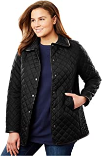 83e22dca984 Amazon.com  Plus Size Women s Quilted Lightweight Jackets