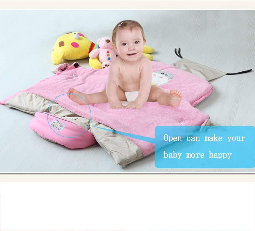 Sac De Couchage Pour Bébé Pour Poussettes Imperméable Pour Bébé Swaddle Wrap Couverture Pour Nouveau-né Bébé Enfant Sac De Couchage En Molleton (rose, Bleu Foncé) Pink