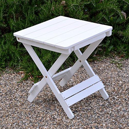 Plant Theatre Adirondack Klappstuhl Hartholz Tisch–Weiß lackiert–Hervorragende Qualität