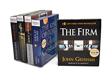 John Grisham CD Audiobook Bundle #1: The Firm; The King of Torts; The Last Juror; The Broker; The Appeal