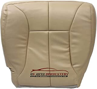 Us Auto Upholstery Compatible With 1998-2002 Dodge Ram 2500 SLT Quad-Cab -Driver Side Bottom Synthetic Leather Seat Cover Tan