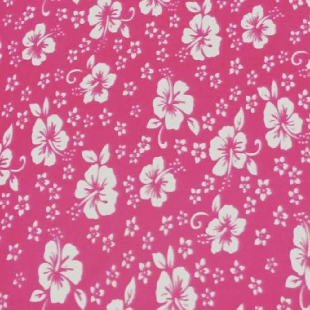 Pico Textiles Now free shipping Fuchsia Hawaiian Florals Fleece Flower Fabric Free Shipping Cheap Bargain Gift 60 -