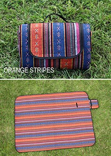 Picknickdecke,Orange Portablevertical Streifen Im Freien Sind Komfortabel Und Langlebig Picknick Mat Faltbar Feuchtigkeit Pad Multiplayer Rasenspiele Mat