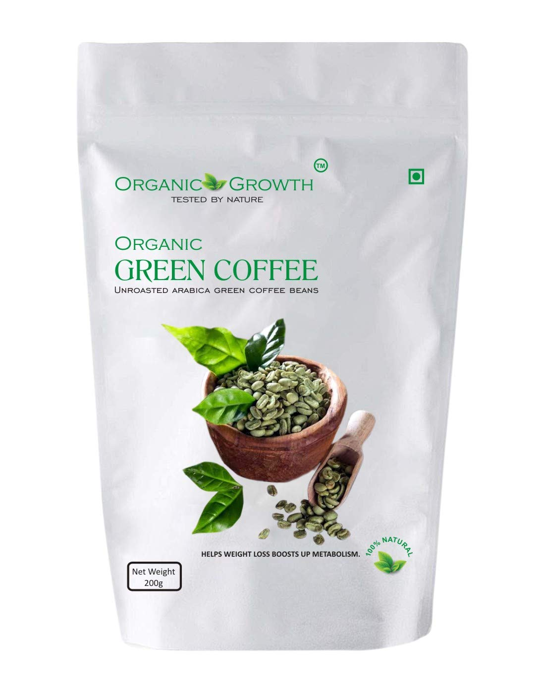 Organic Growth Green Coffee Beans For Weight Loss 200grm Buy