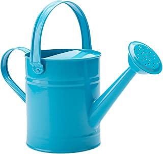 FLYING BALLOON Multi-Color Metal Watering Can and Plastic Watering Pot Set for Garden, Rose Pink/Green/Blue
