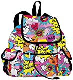 iscream 'Love 2 Laugh' Deluxe Knapsack Style 16.5' x 13' Backpack for School and Travel