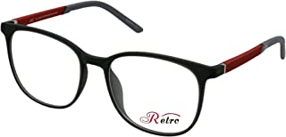 RETRO Unisex-adult Spectacle Frames Square 3001 M.Grey/Red
