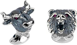 Deakin and Francis Men's Bull and Bear Cufflinks - Silver